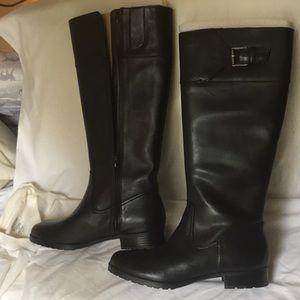 Lauren Women's Sigrid Black Leather Boots NEW